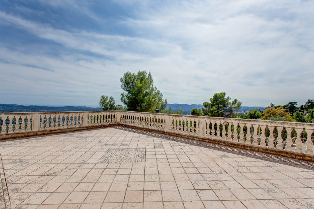 The Terrace at Château Saint Georges, Cote d'Azur - an event & destination wedding venue in Grasse on the French Riviera, South of France, near Nice & Cannes.