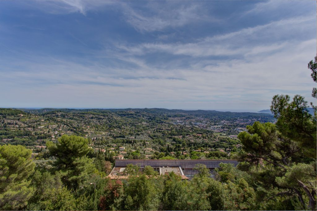 View From the Chateau at Château Saint Georges, Cote d'Azur - an event & destination wedding venue in Grasse on the French Riviera, South of France, near Nice & Cannes.
