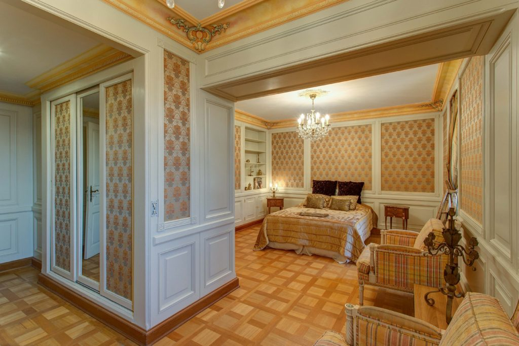 The Bedrooms at Château Saint Georges, Cote d'Azur in Grasse on the French Riviera, South of France.