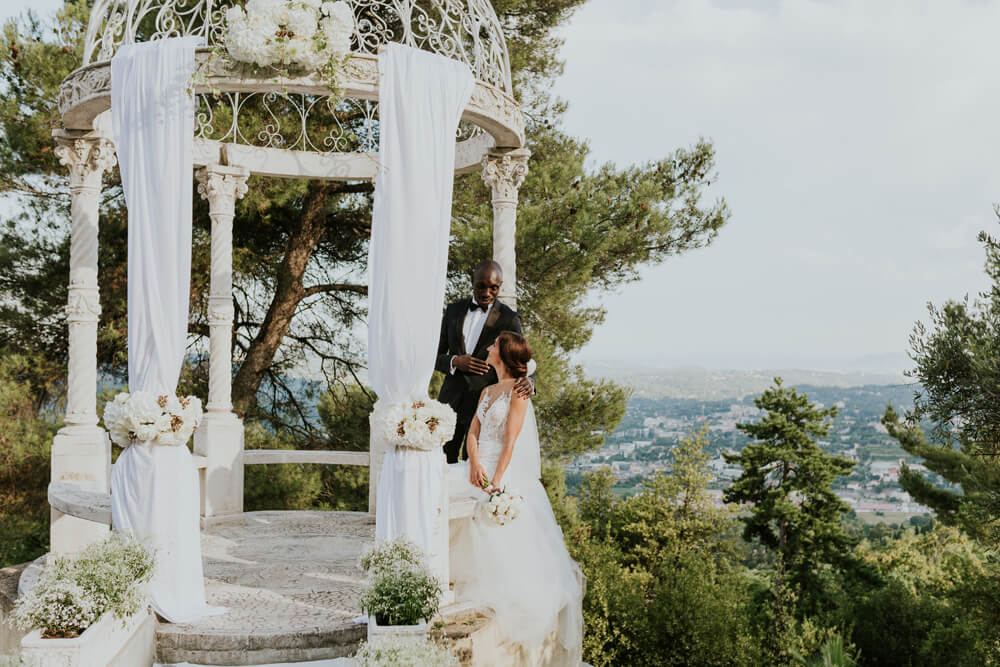 The Temple Château Saint Georges, Cote d'Azur - an event & destination wedding venue in Grasse on the French Riviera, South of France, near Nice & Cannes.